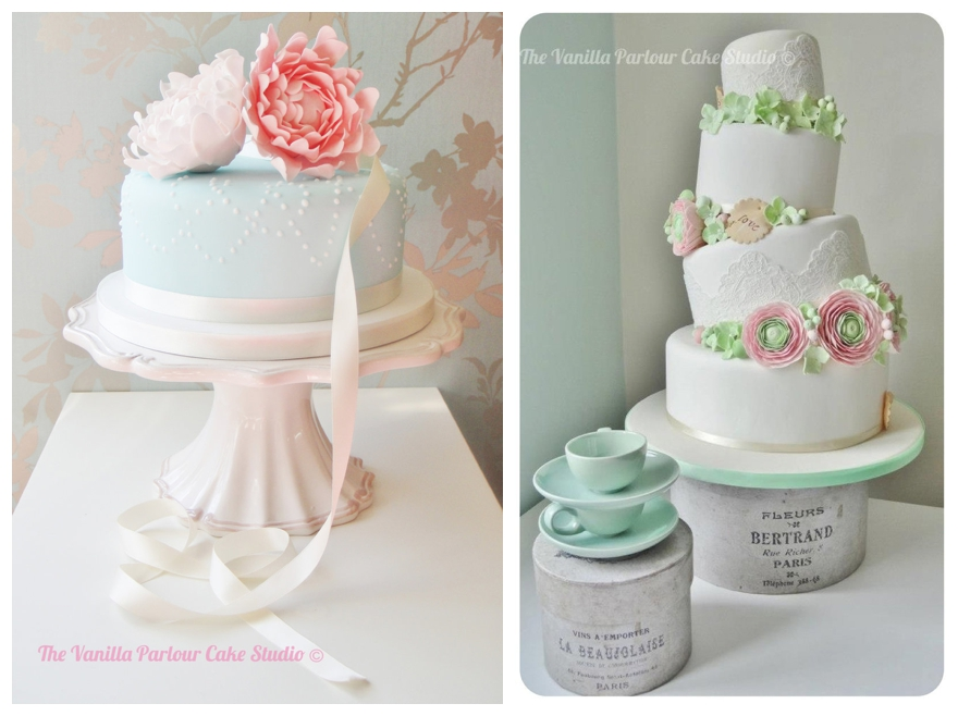 Luxury Pretty In Pink Pastel Wedding Cakes