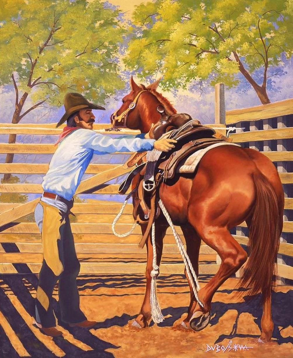 caballos-galopando-cuadros-al-oleo
