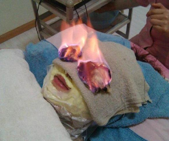 Chinese Beauty Salons Make Your Eyes Shimmer By Lighting Them on Fire