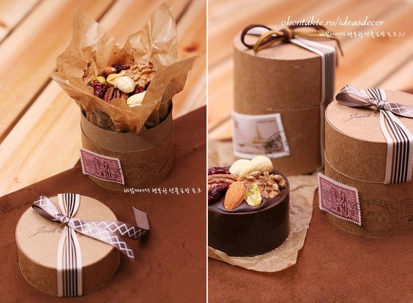 Упаковка подарка цилиндрической формы 16
