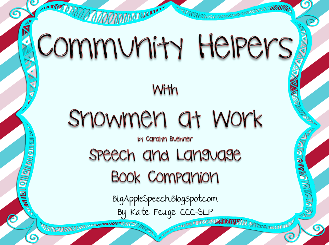 big apple speech community helpers with snowmen at work 50 off