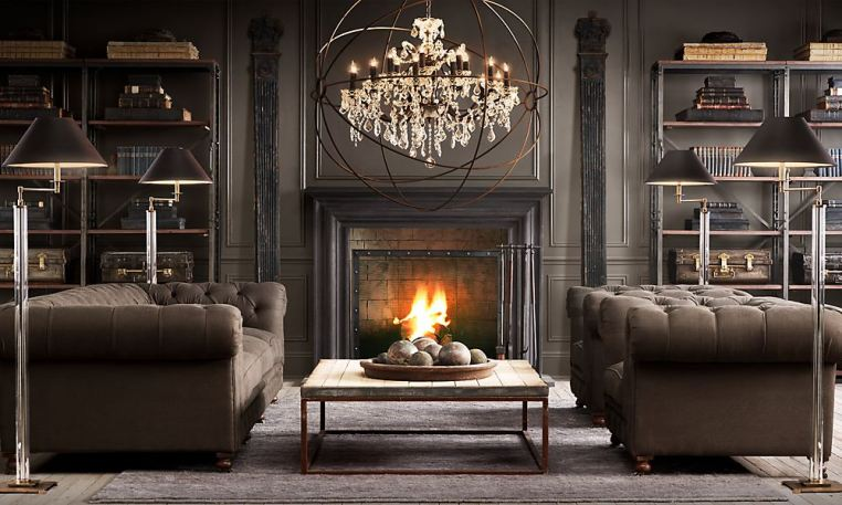 Restoration Hardware Living Room Grey