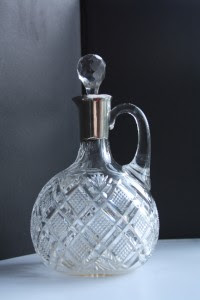 "Antique Imperial Russian Glass & Silver Decanter ""Ivan Xhlebnikov"" (Khlebnikov)."