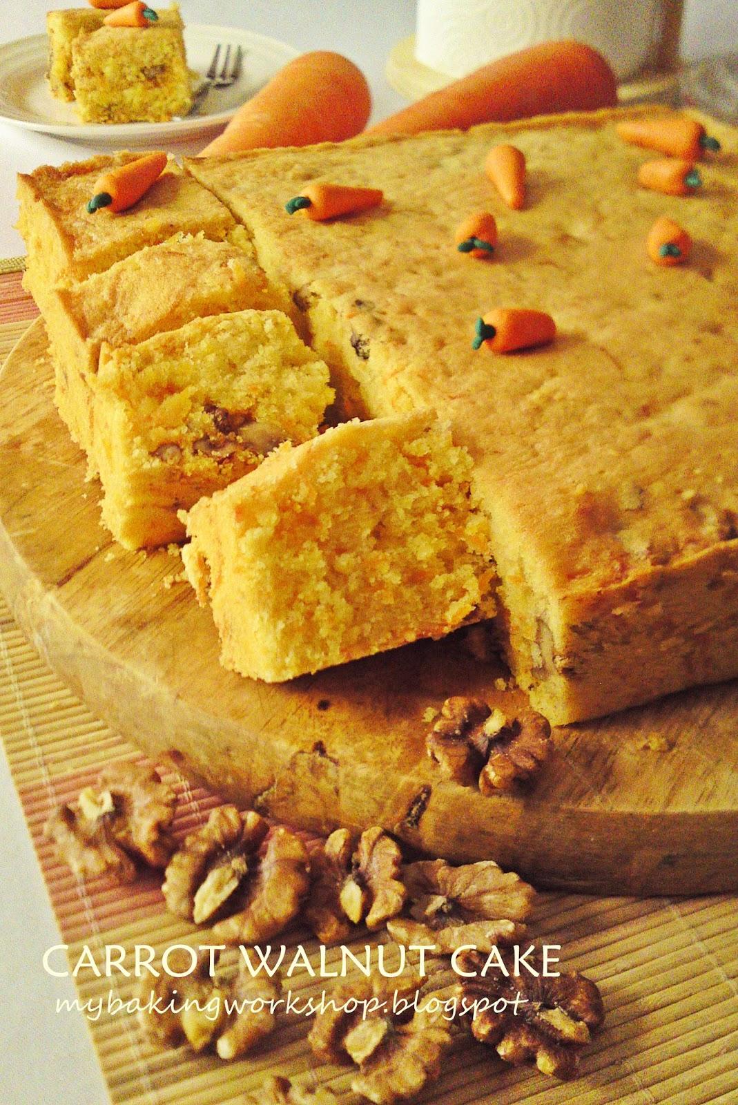 Resepi ni hasil adaptasi daripada resepi carrot cake dalam buku