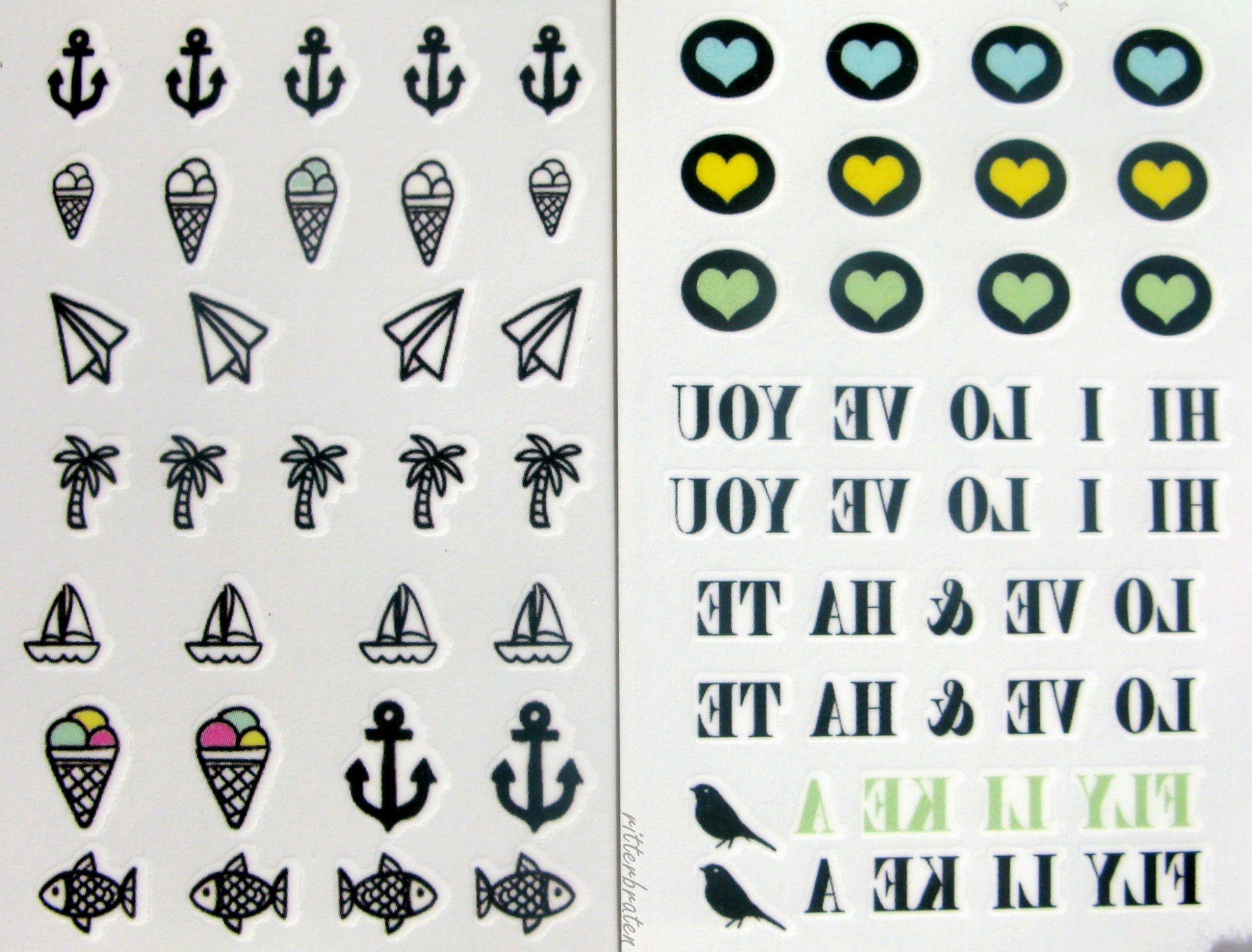 nail tattoos