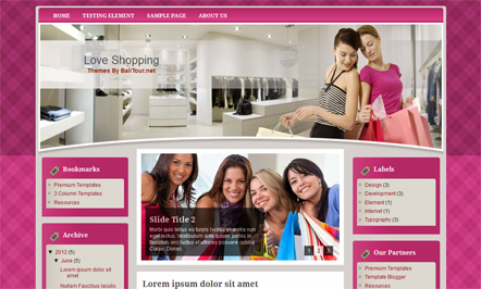 shopping blogger template
