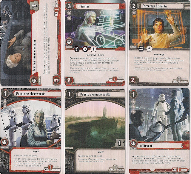 Expansión Star Wars LCG: Ciclo de Ecos de la Fuerza - Únete a nosotros o muere Tras líneas enemigas