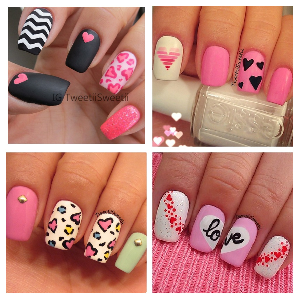 Belindaselene hearts love nail candy nail art for Love the design