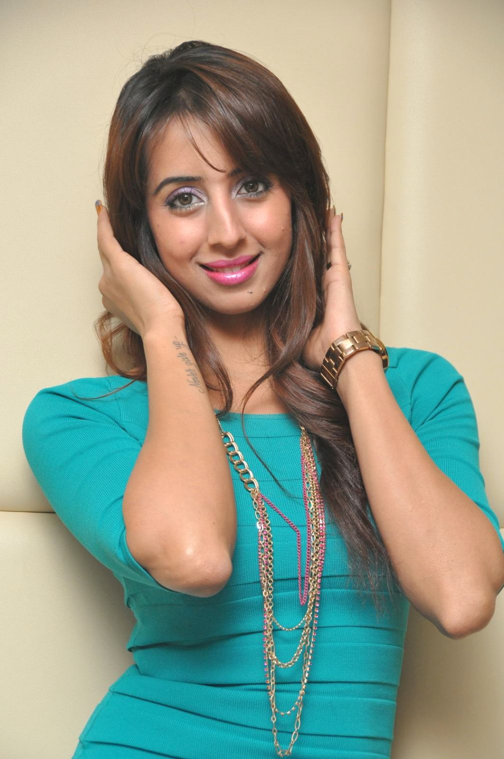 Sanjjanaa Beautiful Photos at Tollywood Channel Press Meet