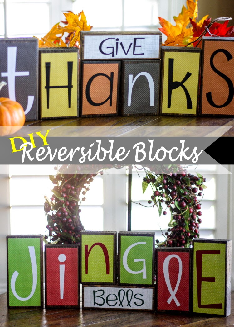 Diy reversible holiday blocks the red balloon for Child craft wooden blocks