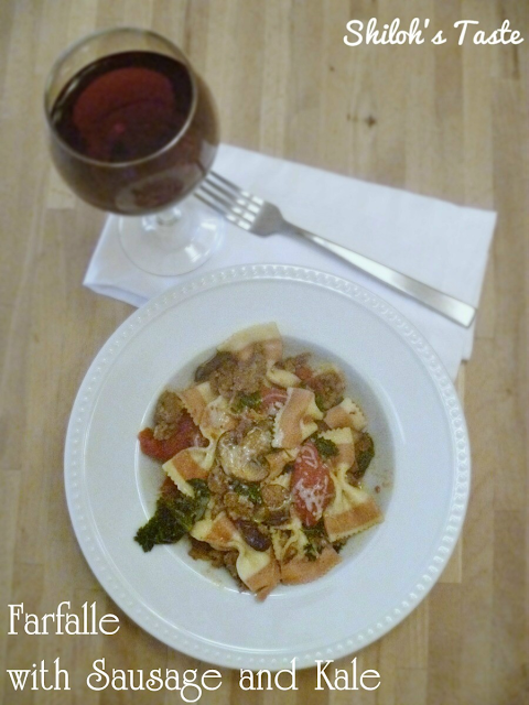 Farfalle with Sausage and Kale | www.shilohstaste.com #kale #pasta #sausage