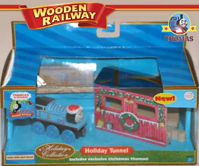 Scale model tunnel set Train Thomas & his friends wooden railway toy Santa Christmas holiday gift
