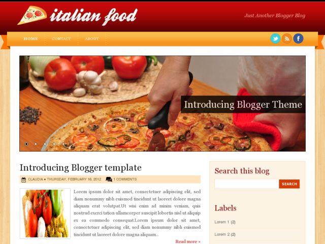 Italian Food Blogger Template