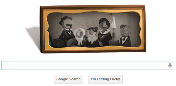 Google Doodle Louis Daguerre's 224th Birthday, louis daguerre camera, nicephore niepce