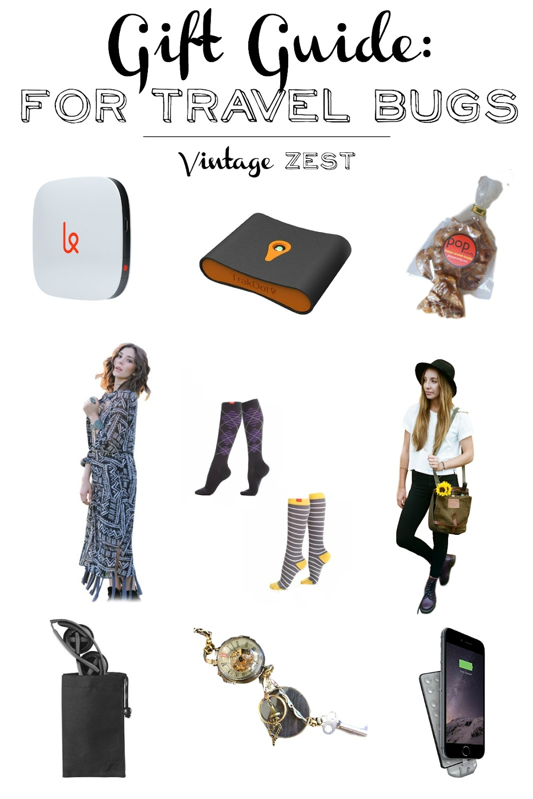 Gift Guide: for Travel Bugs on Vintage Zest #travel #holiday #gift #shopping