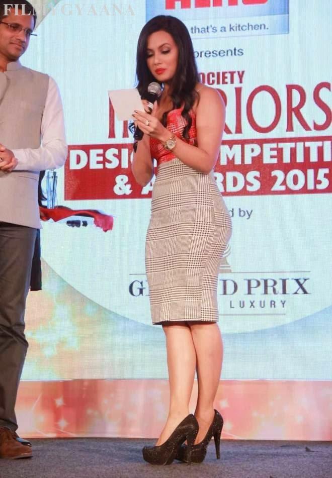 Sana Khan Spicy Stills at Society Interior Awards 2015
