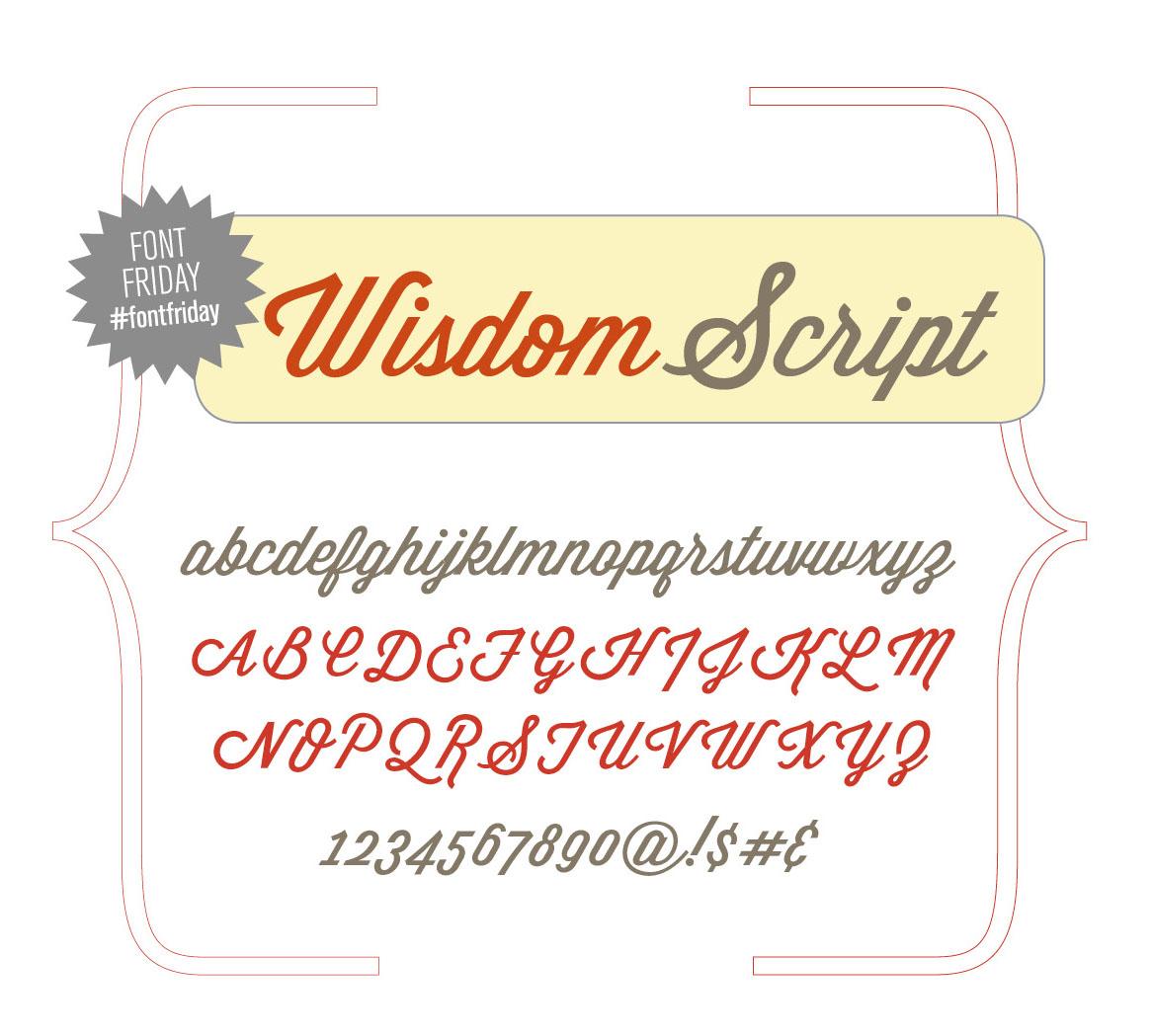 35 Font Script untuk Desain grafis - Wisdom Script Font