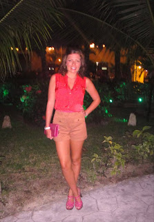 Holiday Outfit, Tailored Shorts and Blouse, River Island Shorts and Blouse