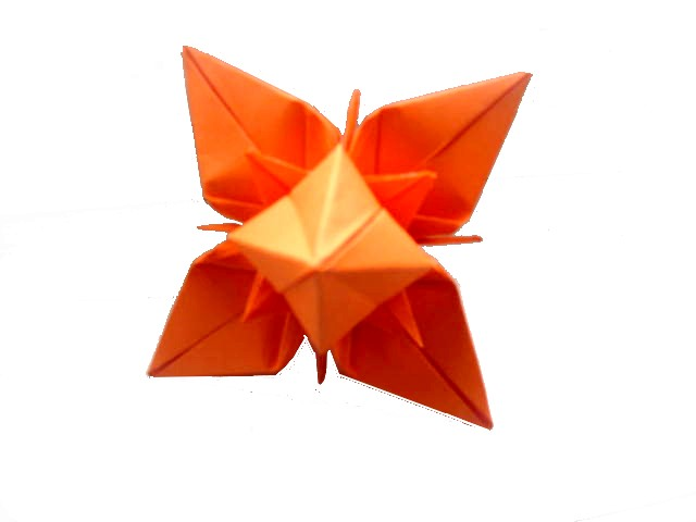 Interferente origami 3d star idea joining 6 bell flower construieste un inedit star unind 6 - Origami suspensie ...