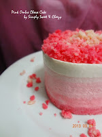 Pink Ombre Cheese Cake
