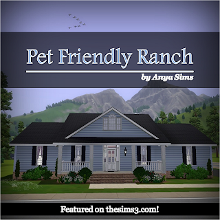 Anya sims home design pet friendly ranch for Pet friendly house plans