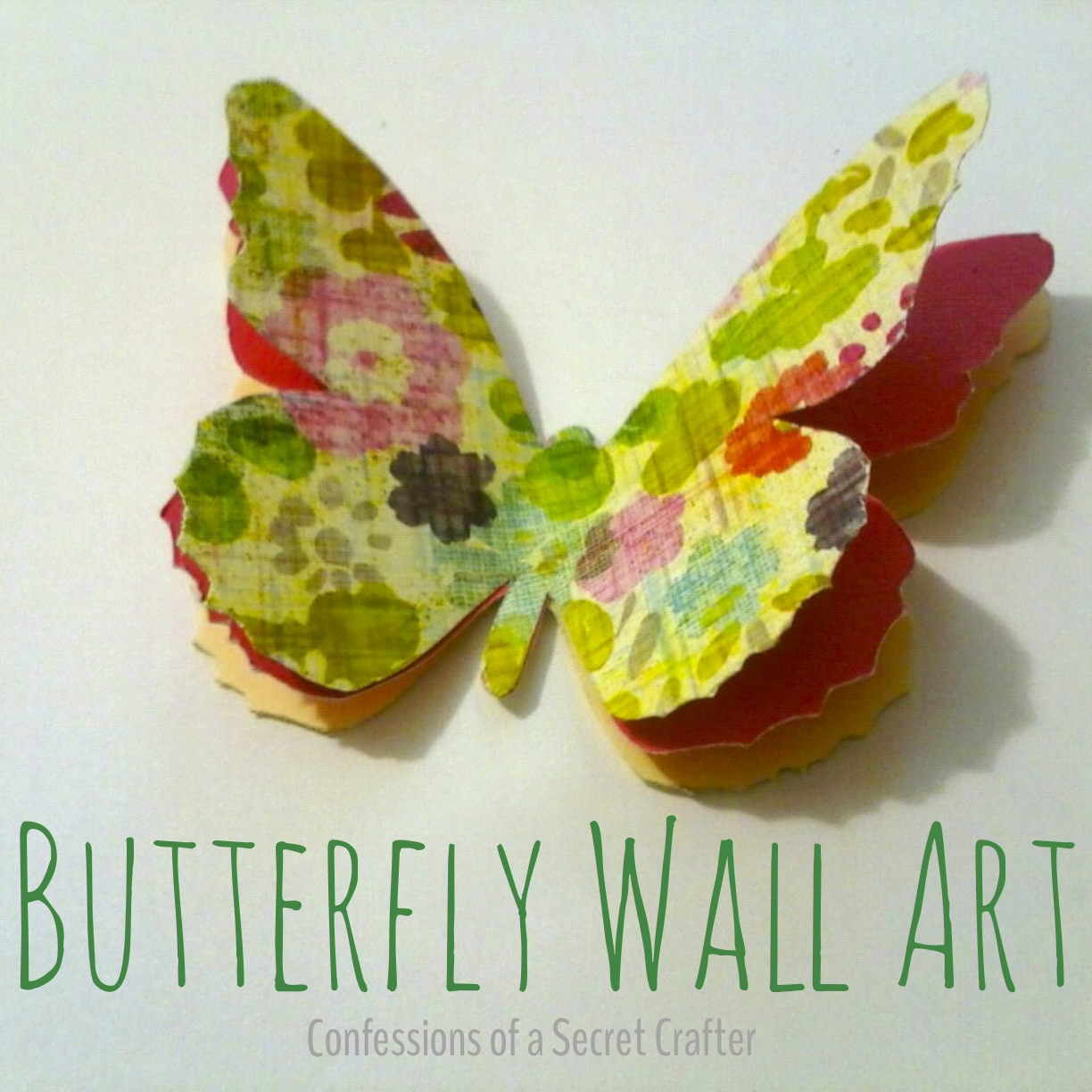 Butterfly Wall Decor | Confessions of a Secret Crafter