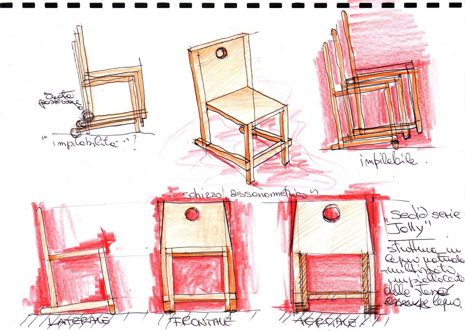 Vent 39 anni di disegni dell 39 arch antonio saporito disegno - Sedia a dondolo disegno ...