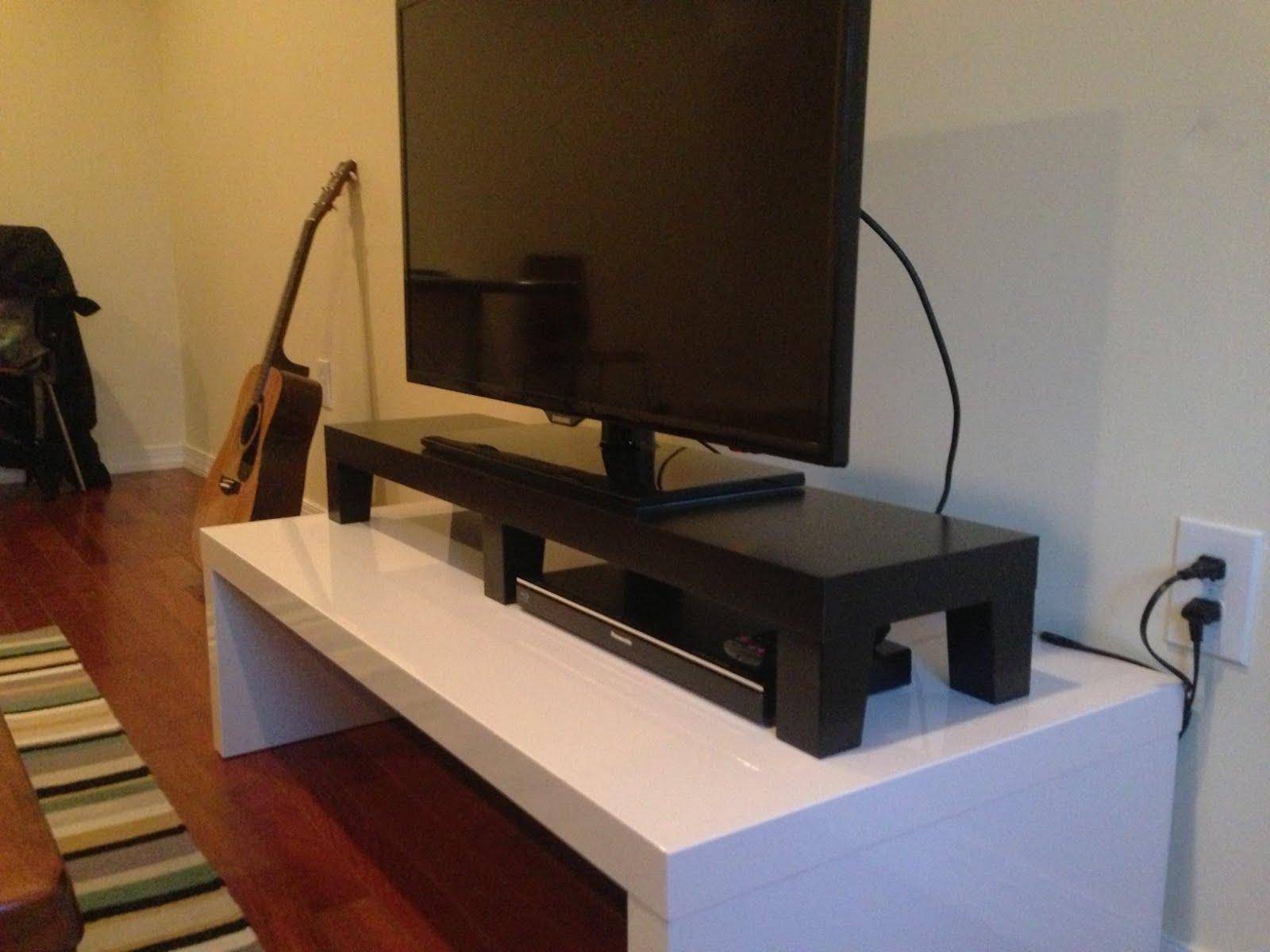 Ikea Grundtal Replacement Bulb ~ Materials 1 Lack shelf, 3 pair Besta wooden legs, glue