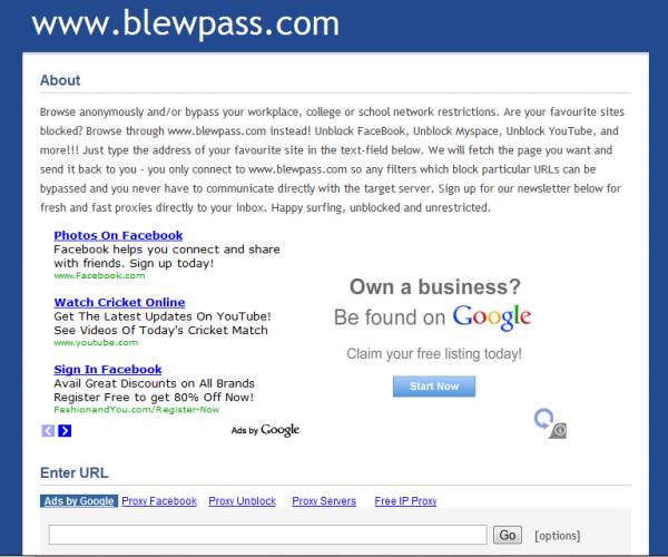 Top 10 Best Free web Proxy Sites 2013
