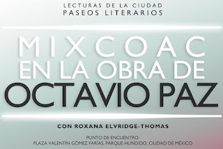 Paseo literario en Mixcoac recordando la obra de Octavio Paz