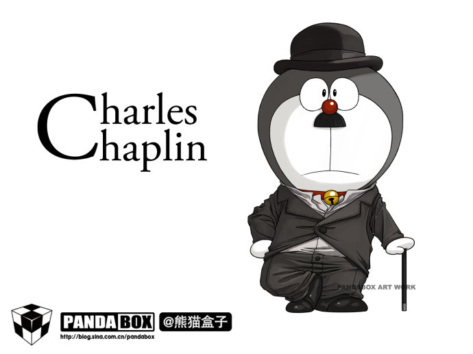 CosRain.Com DORAEMON's COSPLAY - Charlie Chaplin