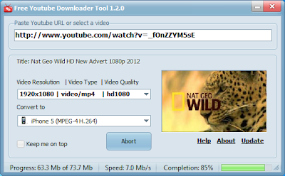 Free Youtube Downloader Tool 1.2 - Download and Convert YouTube Video