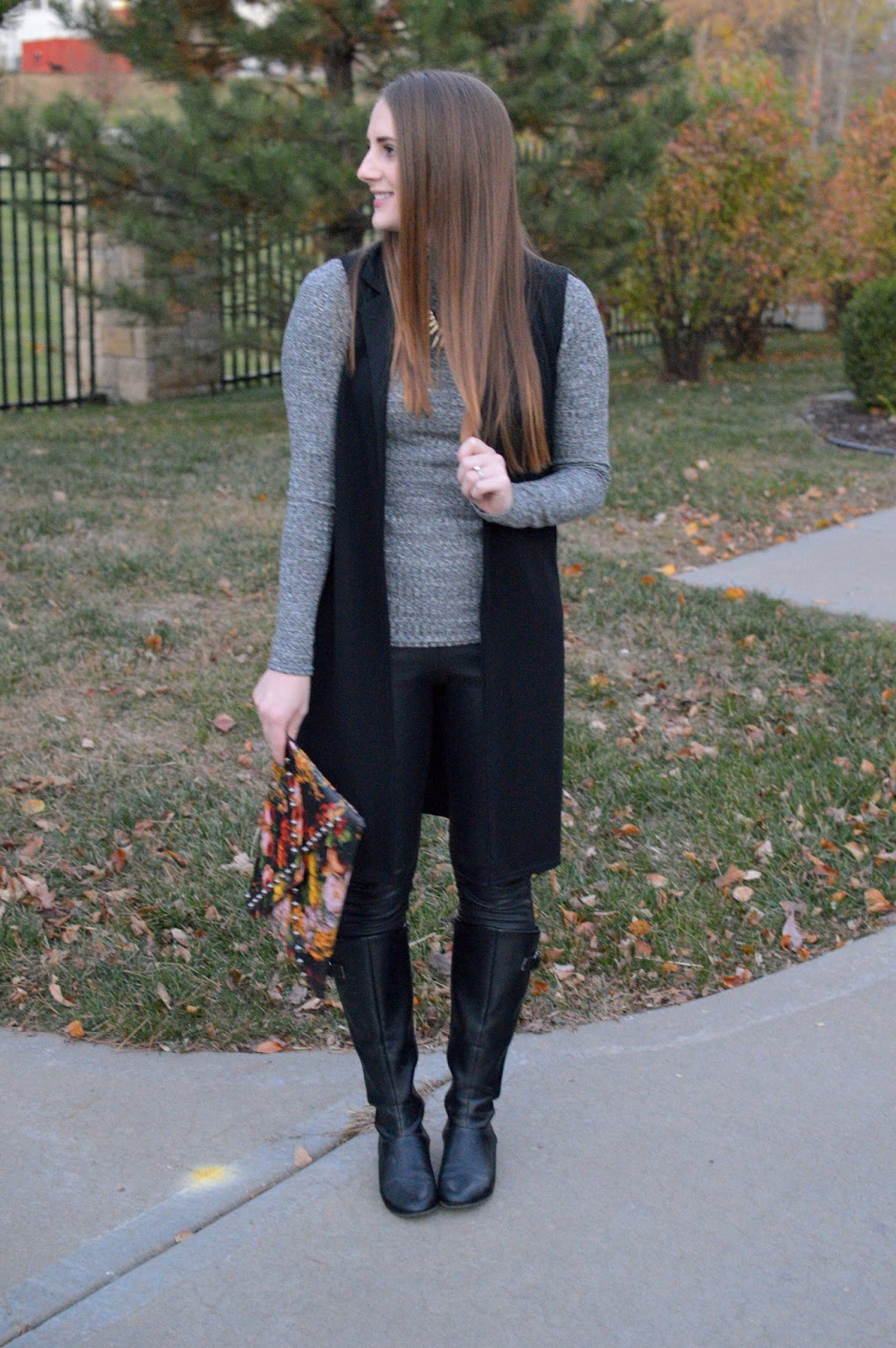 how to style a gray turtleneck