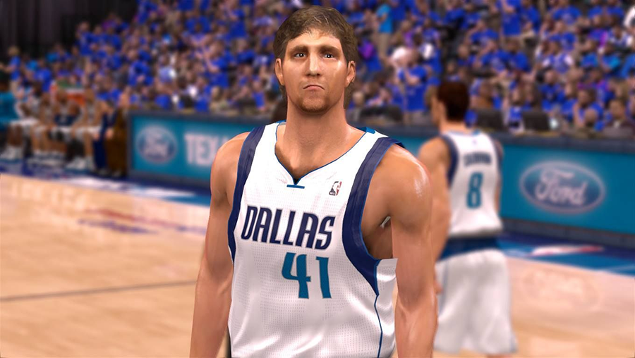 NBA 2K14 Dirk Nowitzki Cyberface Patch