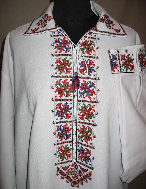 Українська вишиванка, чоловіча, вишивка хрестиком від Руслани Равлюк, Бучач