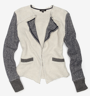 Boucle Contrast Sleeve Jacket
