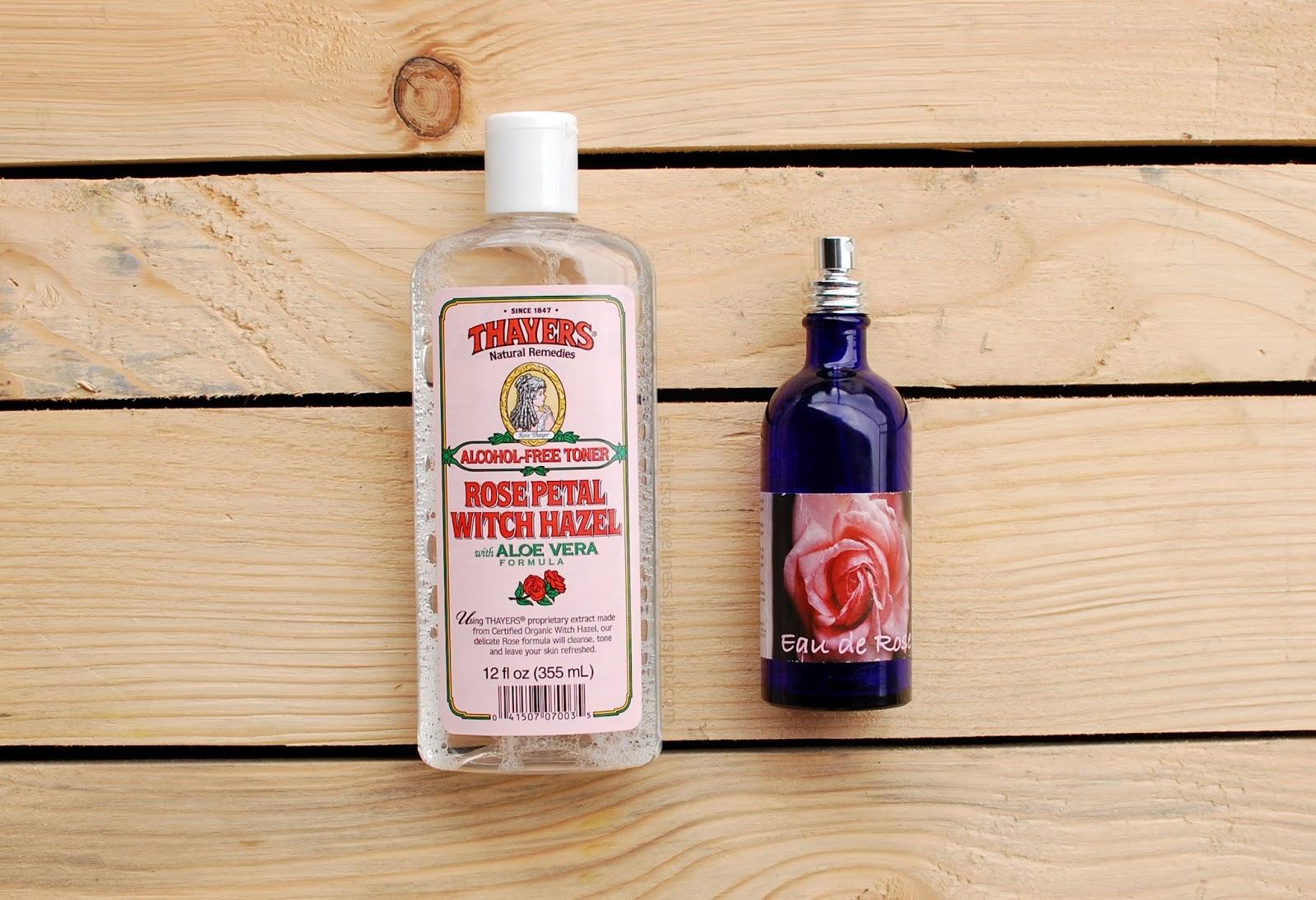 Thayers Rose Petal Witch Hazel with Aloe Vera Alcohol Free Toner, Argana Rose Water