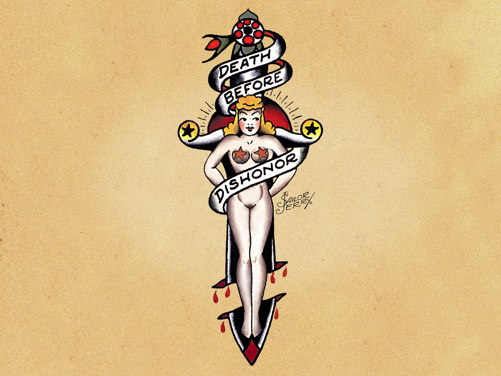 Sailor jerry girl pin up