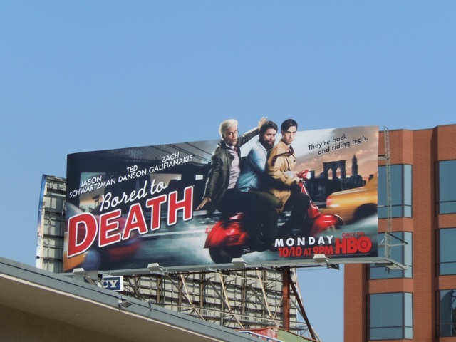 Bored to Death season 3 billboard