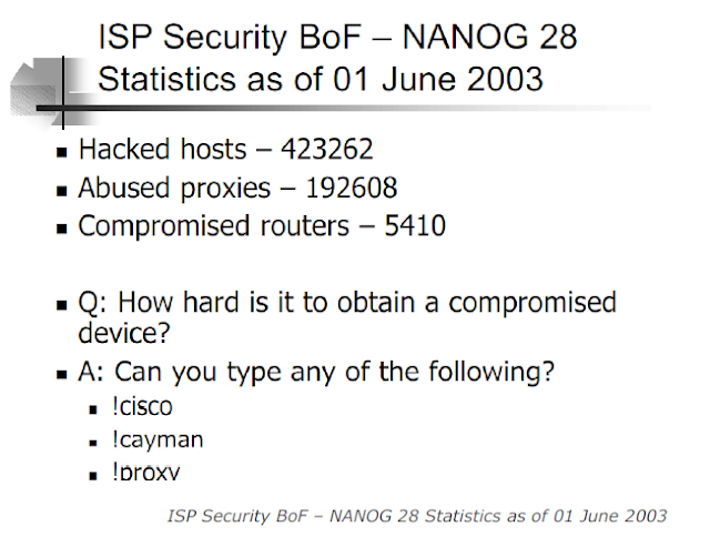 ISP Security BoF – NANOG 28