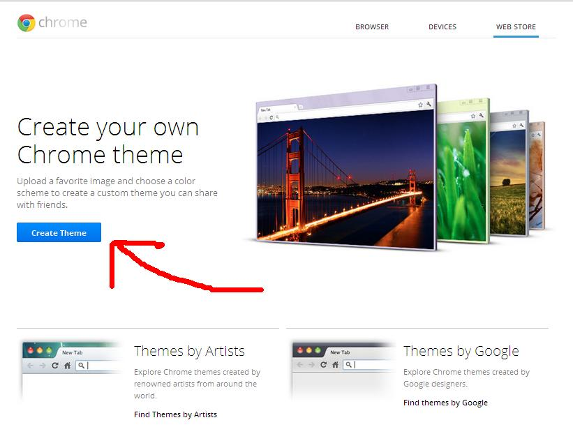 how to create a google theme on chrome