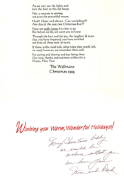 Mom's Christmas Poem 1998