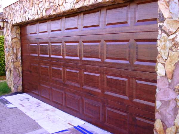 Faux painting get advice and tips from a professional for How to paint faux wood garage doors
