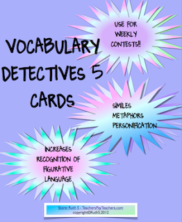 photo of vocabulary detective task cards 5 Teacher Park Ruth S Teacher Park Ruth S vocabulary contest