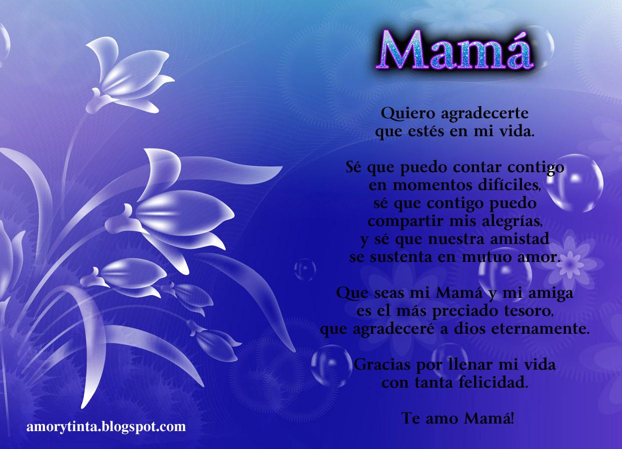 Imágenes con poemas para el día de la madre