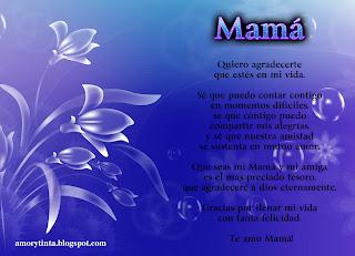 poema dia madre imagen flores azules