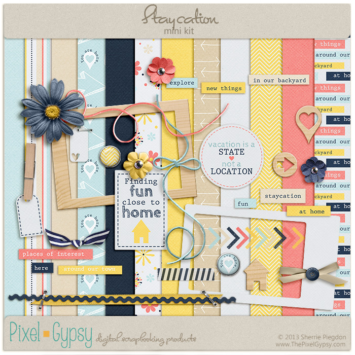 Staycation Digital Scrapbooking Mini Kit