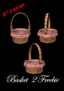 Basket 2 freebie PNG, PNG TUBES, Easter PNG, Pink baskets