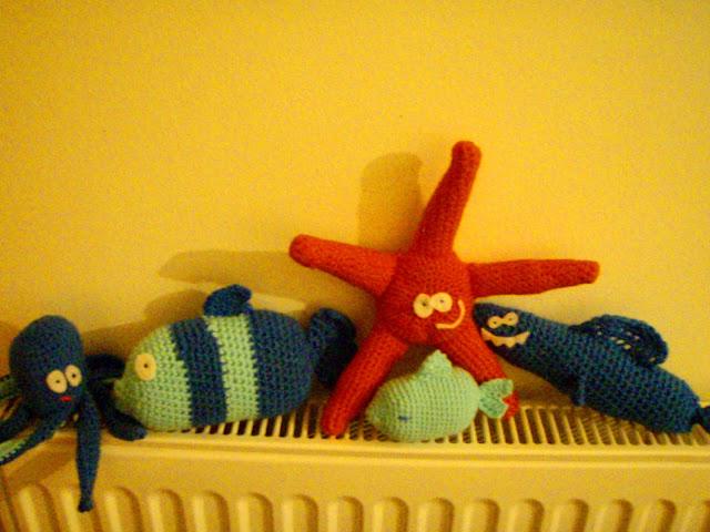 crochet plush toys starfish fishes octopus