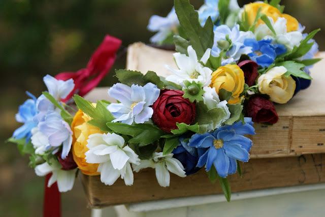 letni wianek, wianek z kwiatów, lato, wianki